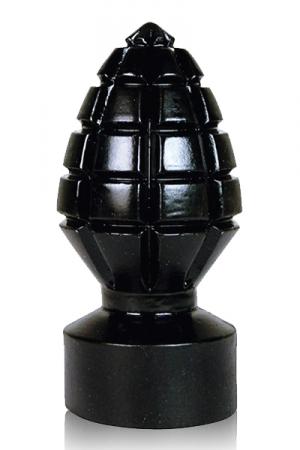 Grenade noire crantée