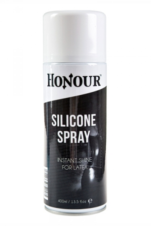 Spray shinner silicone latex