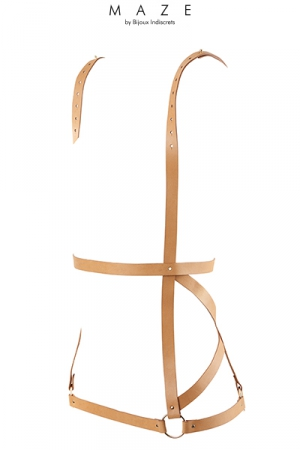 Robe harnais marron - Maze