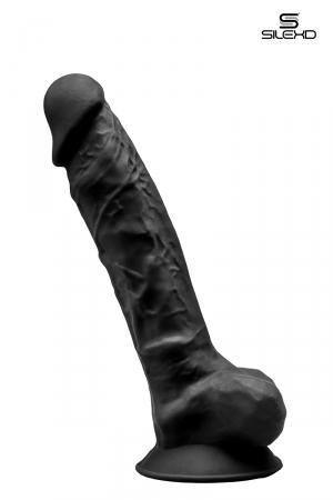 Gode double densité noir 23 cm