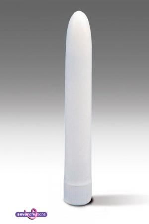 Vibromasseur lisse blanc